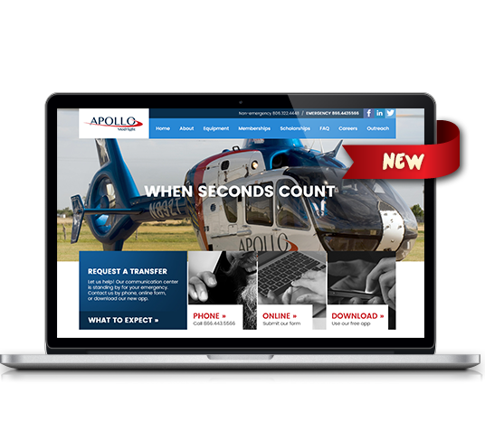 Apollo Med Flight - Amarillo Website Design, Amarillo Web Design, Amarillo Web Designers, Amarillo Webpage Designer