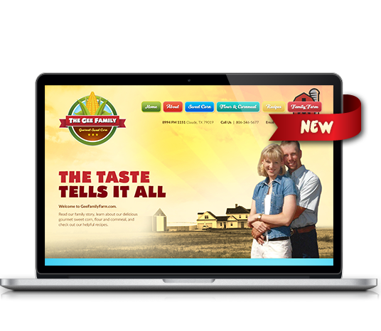 The Gee Family Gourmet Sweet Corn - Amarillo Website Design, Amarillo Web Design, Amarillo Web Designers, Amarillo Webpage Designer
