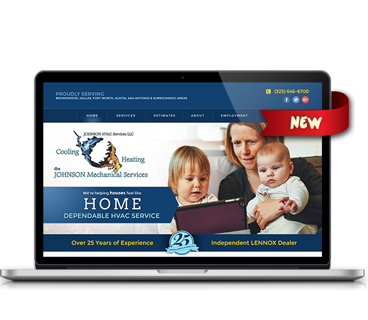 Johnson Mechanical Services - Amarillo Website Design, Amarillo Web Design, Amarillo Web Designers, Amarillo Webpage Designer